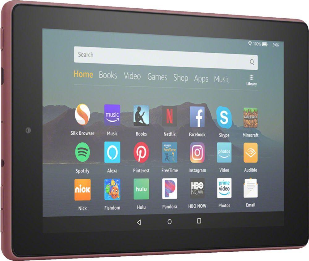 "Amazon Fire 7 2019 release 7"""" Tablet 16GB Plum"