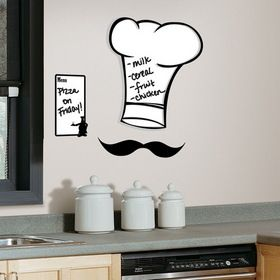 RoomMates RMK1727GM Chef's Hat Dry Erase Peel & Stick Giant Wall Decals