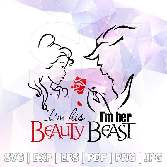 Beauty and the Beast SVG DXF Layered Cut File Cricut Designs