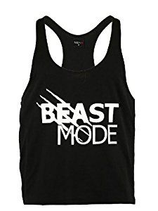 Mens Classic BEAST MODE Gym Vest Alternative Stringer Vest Tank Top Bodybuilding Clothing BLACK: Amazon.co.uk: Sports & Outdoors