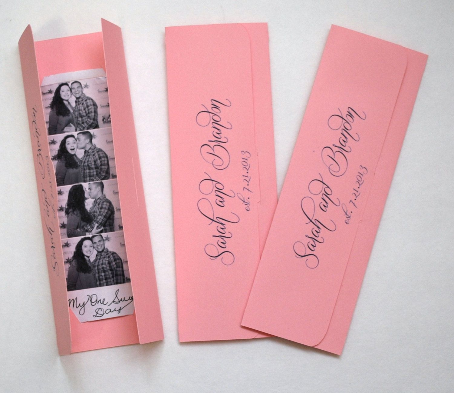 Photo booth Photo-Strip Picture Holders Party Favor Pink and Navy ...