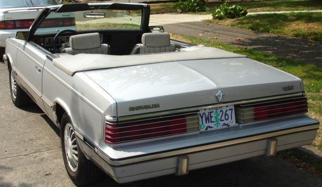 1985 Chrysler Lebaron Convertible Mark Cross Edition Chrysler