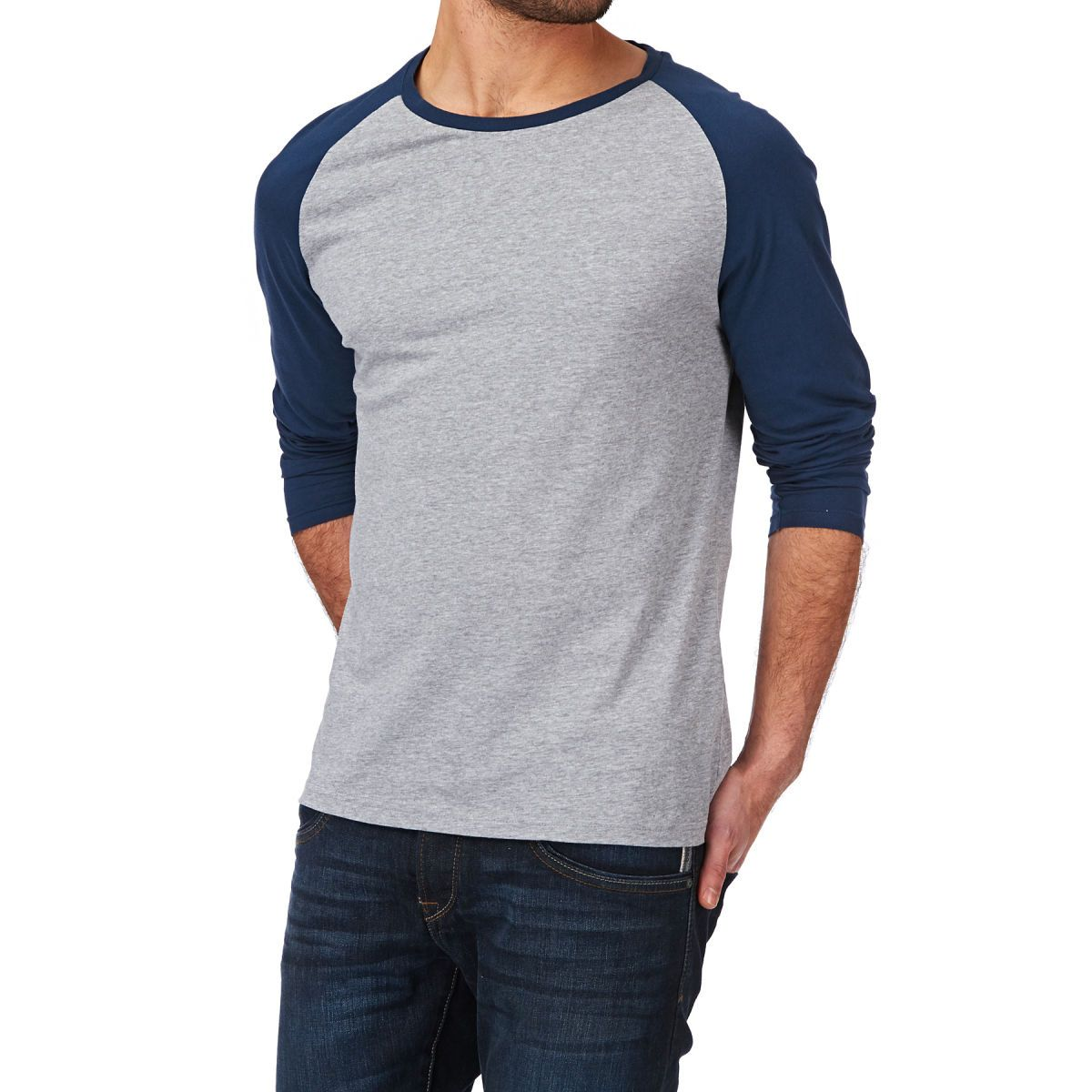 Wolf & York Mitchell Long Sleeve T-shirt - Grey | Free UK Delivery ...