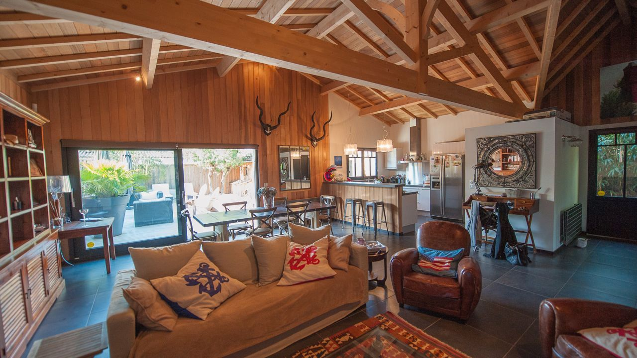 maison bois cap ferret maison de vacances pinterest. Black Bedroom Furniture Sets. Home Design Ideas
