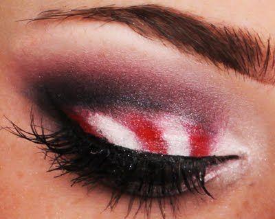 Candy Cane Eye Makeup Makeup Eye Makeup Blue Eye Makeup