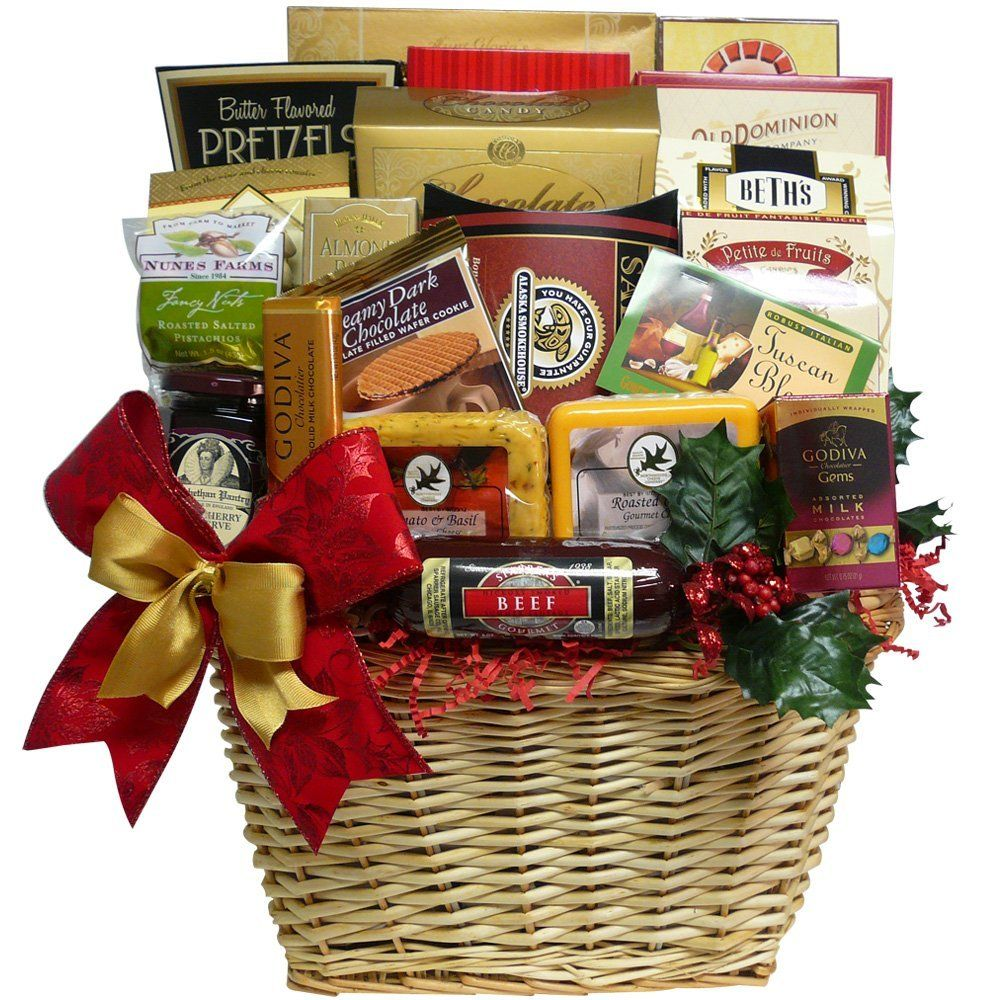 Art Of Appreciation Gift Baskets Best All Around Gourmet Food Gift With Smoked Salmon Chocolate C Gourmet Food Gift Basket Food Gift Baskets Seafood Gift