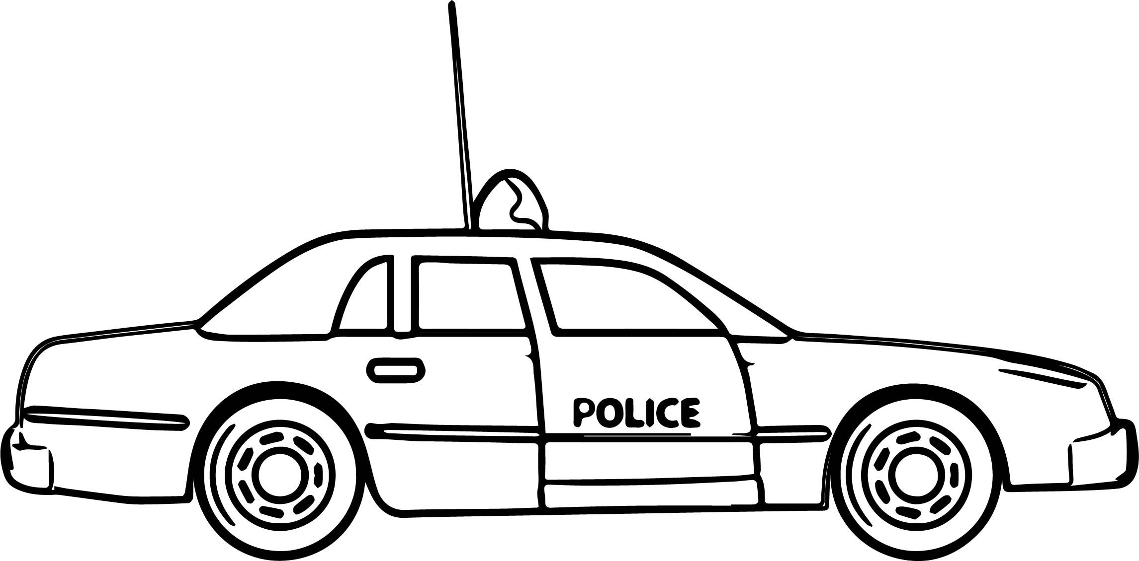 Cool New Police Car Coloring Pages
