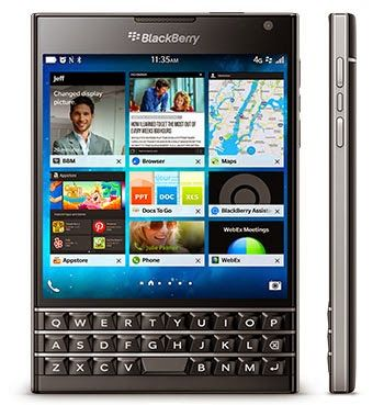 BlackBerry Passport with 4.5inch square screen and
