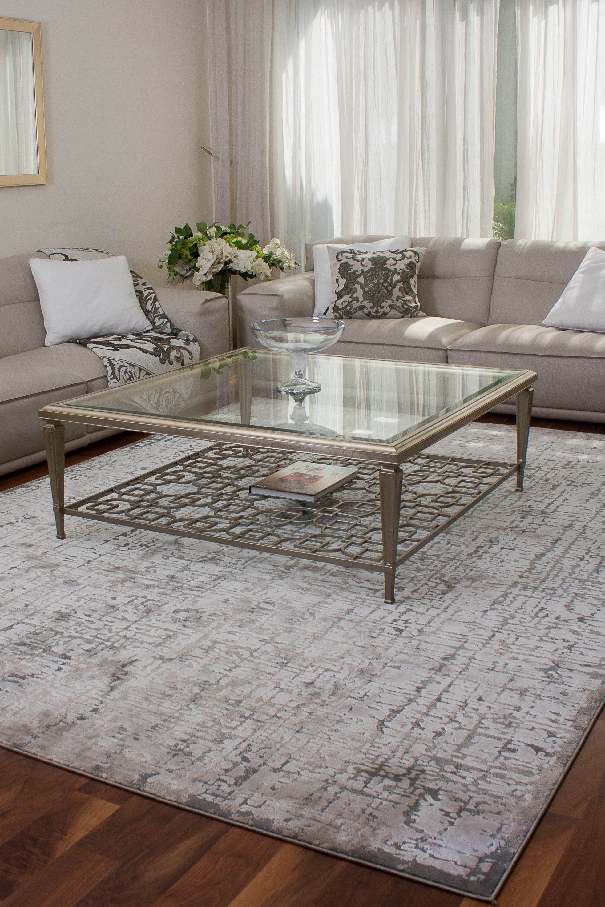 Cp3683f Gry Contemporary Carpet Grey