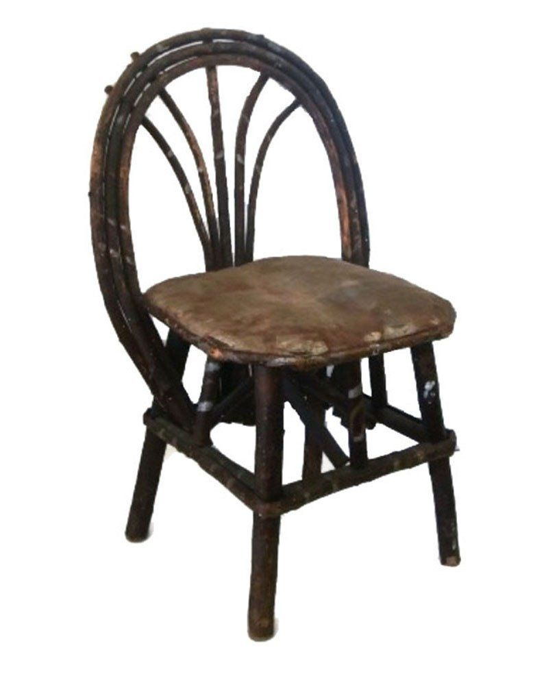 Antique willow childs chair Adirondack style c 1900s