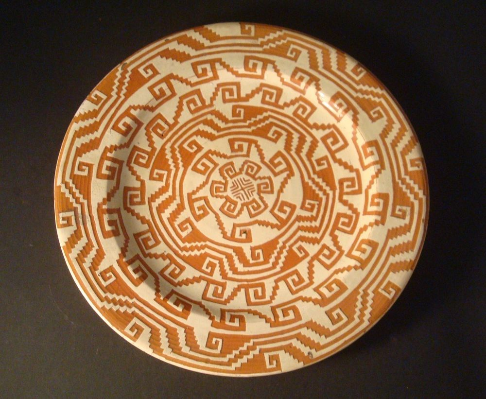 "Mixtec Oaxaca Mexican Pottery 9.5"" Plate Alfareria Jimenez"