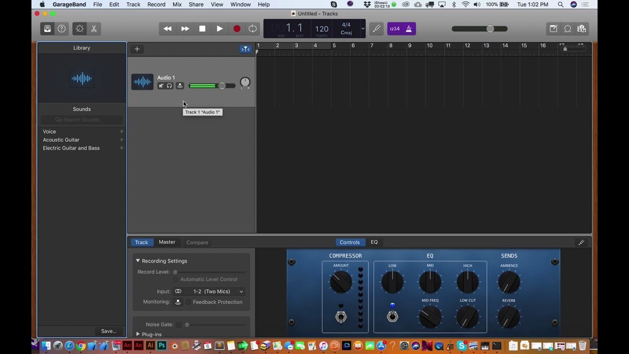 How to Setup Two Mics for a Podcast using GarageBand 10.2