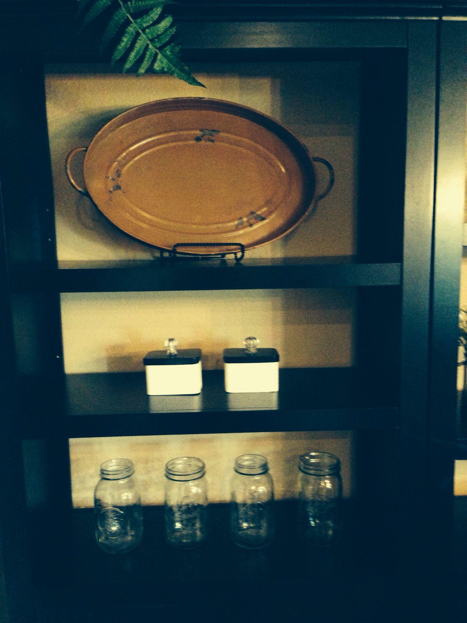 Tin tray and jars to fill