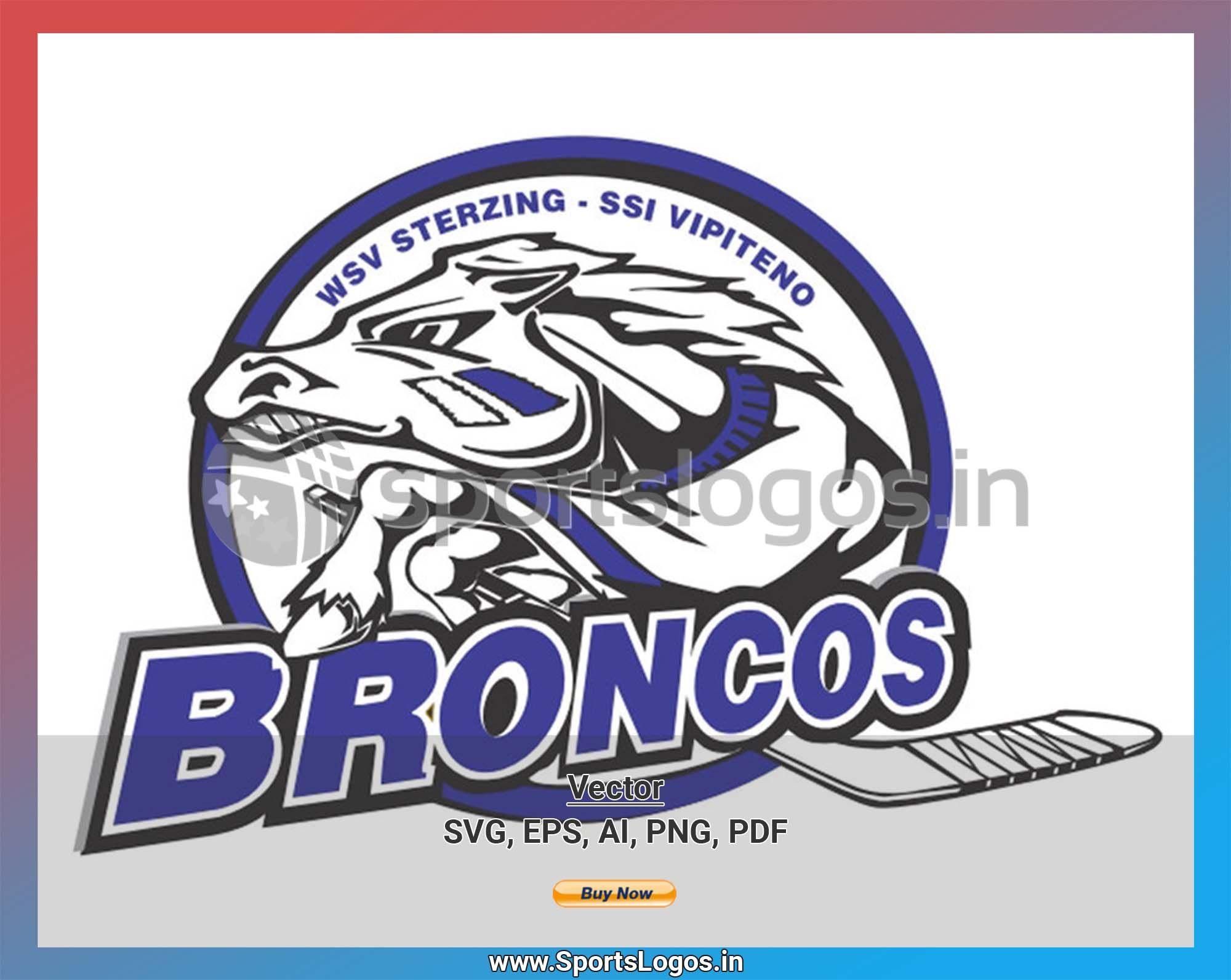 WSV Sterzing Broncos Hockey Sports Vector SVG Logo in 5