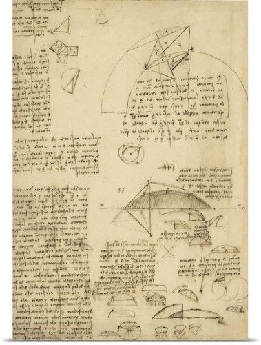 da Vinci Poster Print Wall Art Print entitled Small front-view of ...