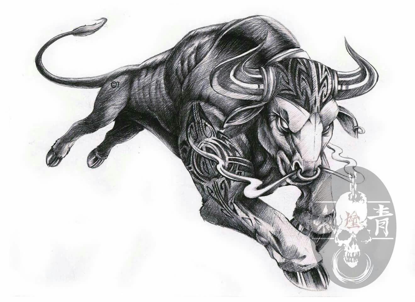 Pin By Nametattoo Bangsaen On Name Drawing Bull Tattoos Taurus Bull Tattoos Taurus Tattoos