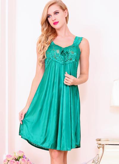8e83a853d9cf Nightwear Women Sleepwear Sexy Nightdress Lace Nightgowns Sleeveless Ladies  Night Dress Babydoll Plus Size Knee Length Nuisette