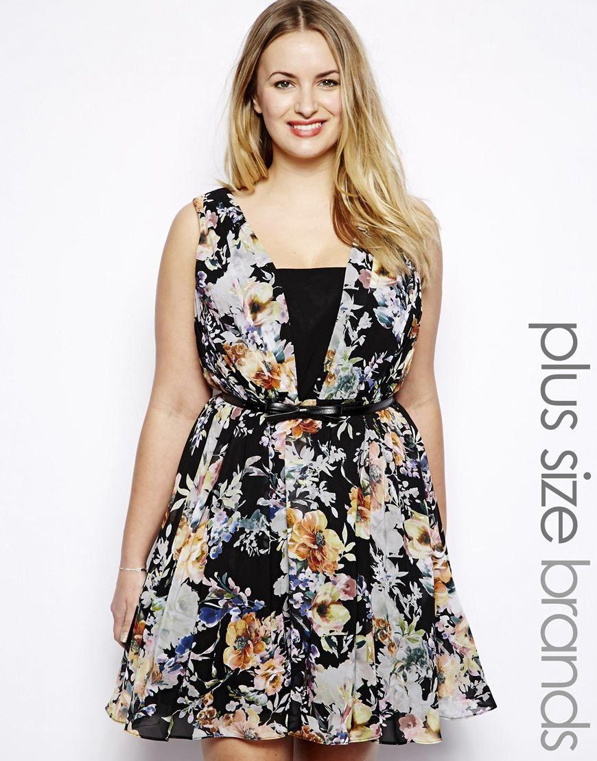 Little Mistress Floral Print Skater Dress--reminds me of @Kim Holdsworth