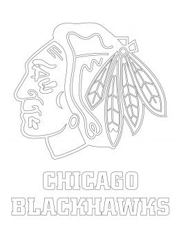 Chicago Blackhawks coloring pages | ☝Blackhawks☝ | Chicago ...