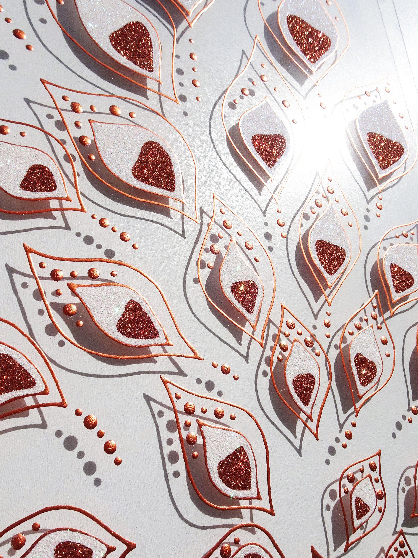 #Glasbild #Glas #Bild #handgemalt #glitzer #Pfau #Feder #Pfauenfeder #Henna #Indien #indisch #yoga #painting #acryl #glitzer #flitter #braun #kupfer #popart #modern #art #contemporary #painting #wallart #Kunst #Wandkunst #Malerei #Technik #orientalisch #Orient #Flamme