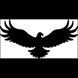 Eagle Silhouette Line Art Lesson Eagle Silhouette Wings Art