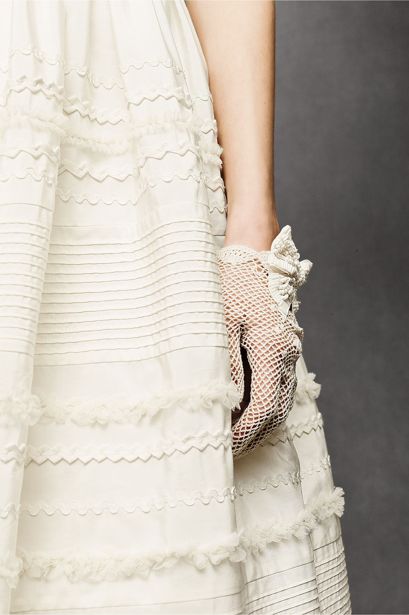 Cream dresses for weddings  Fondant Tea Dress in SHOP The Bride Wedding Dresses at BHLDN
