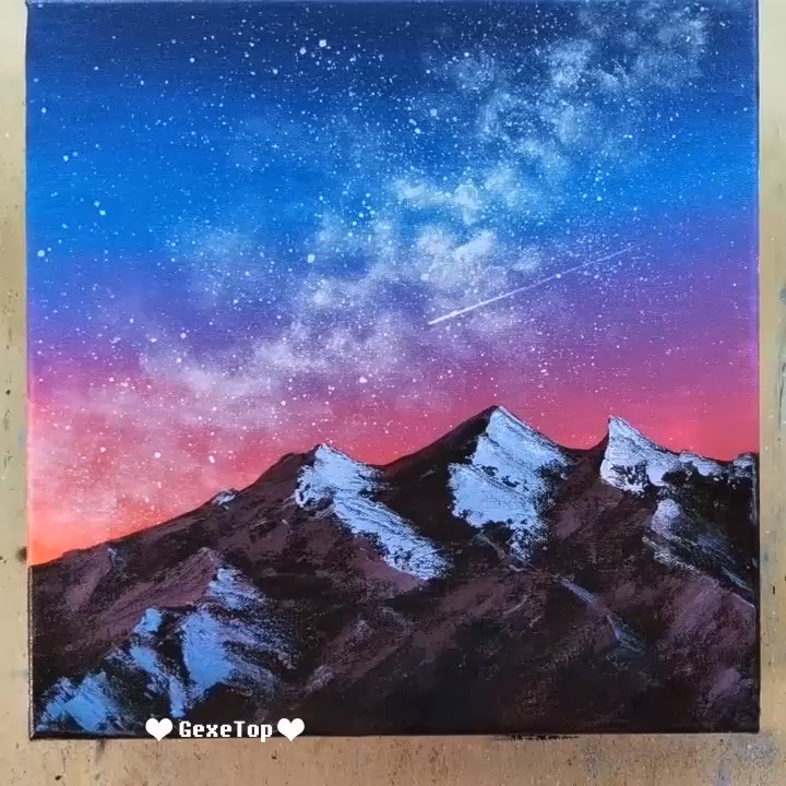 10 Best Starry Sky Painting Ideas Painting Tutorial Videos Part 1 Sky Painting Painting Tutorial Night Sky Painting