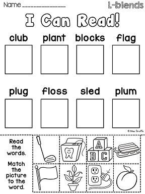 L Blends Worksheets and Activities | Worksheets, Activities and ...