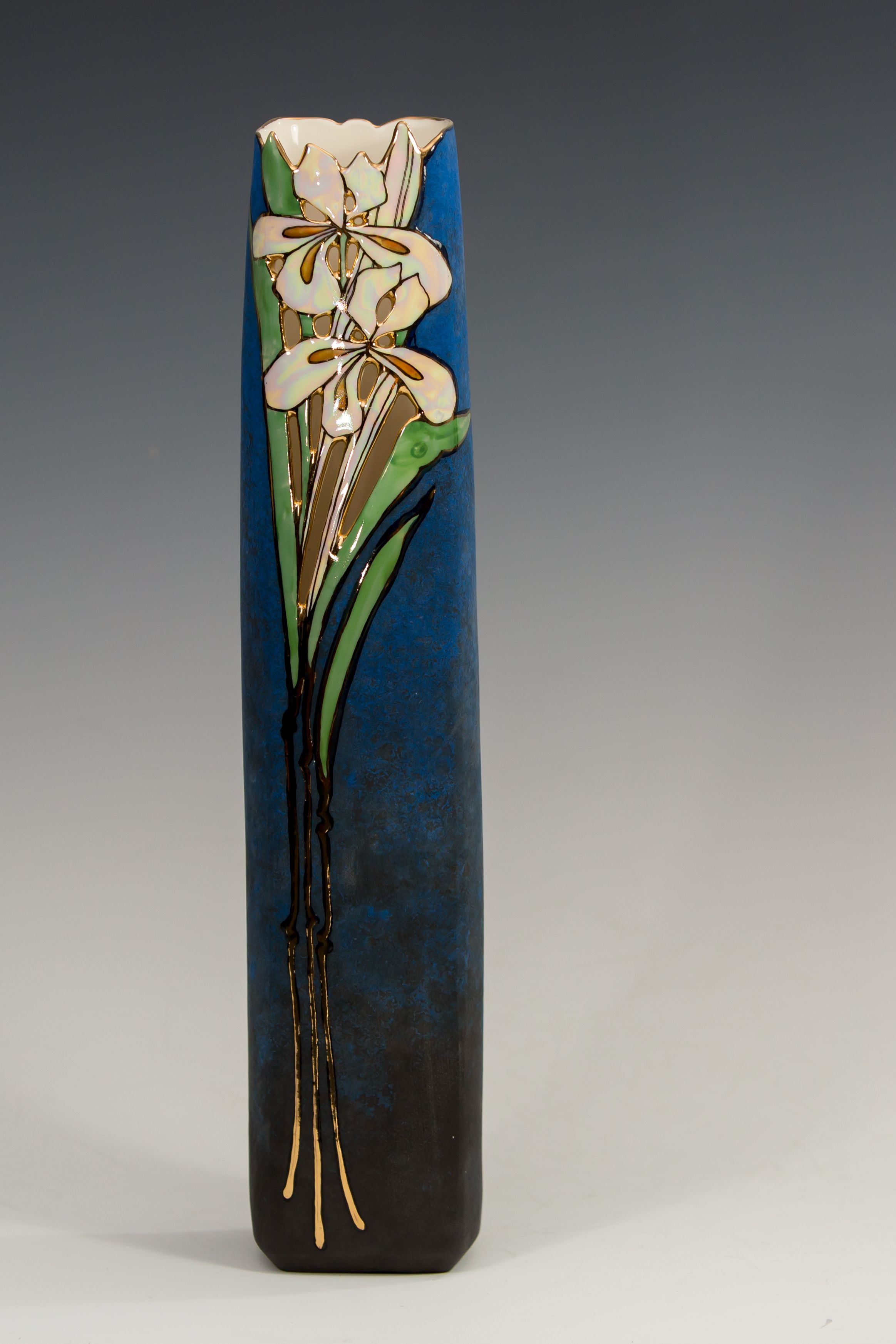 Cast Porcelain vase, by Jan Phelan,Garibaldi Highlands,BC