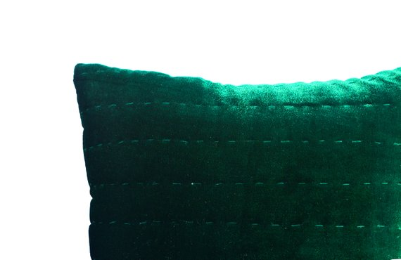 Green Velvet Pillow Emerald Green Pillow Cover Euro Shams Etsy Velvet Pillows Green Pillow Covers Green Bedding