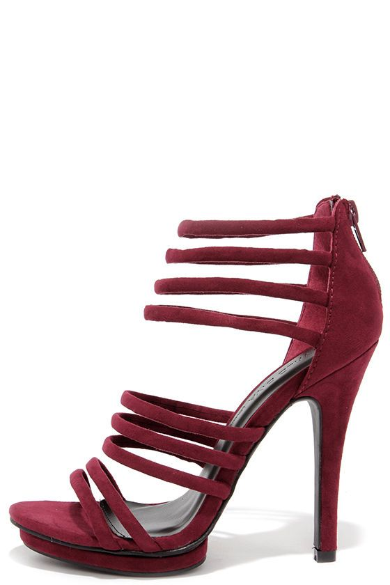 7a66d692792f You Better Step Burgundy Suede Caged Heels  burgundy  heels  shoes  omgshoes