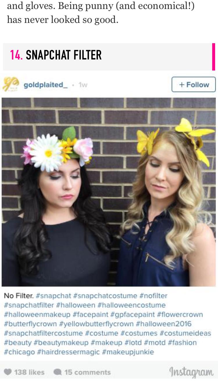 Snapchat filter costume Snapchat costume, Snapchat