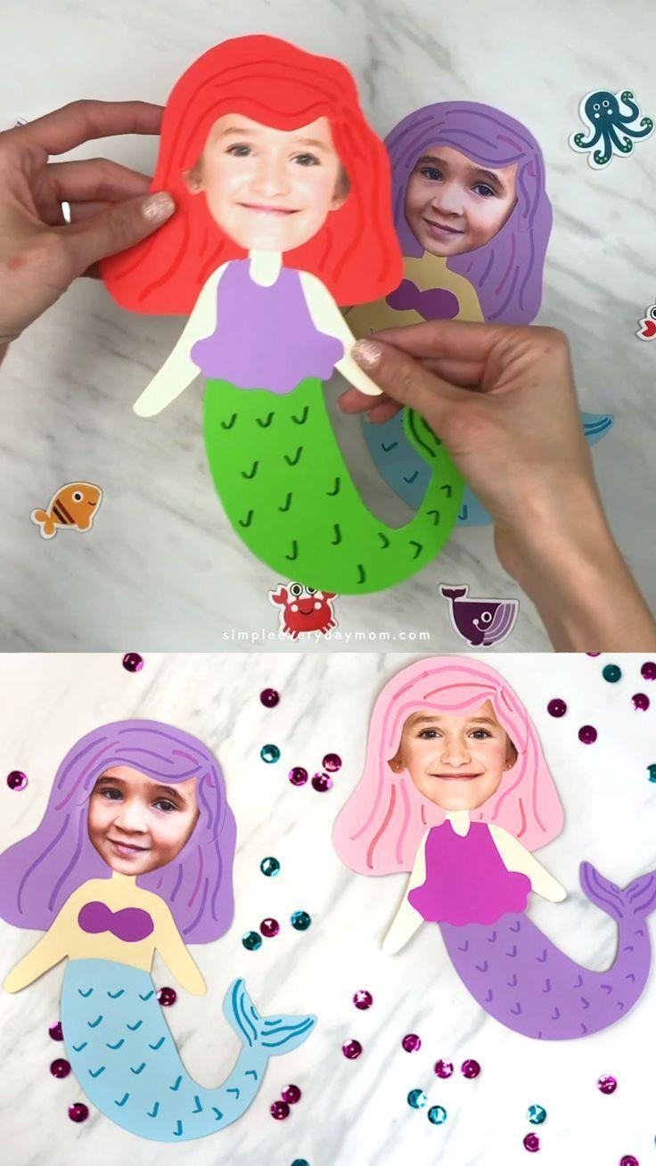 Photo Mermaid Craft Idea For Girls