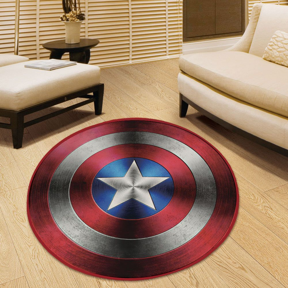 Marvel Comics Captain America Plush Floor Rug Carpet Room Doormat ...