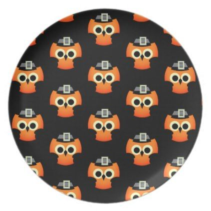 Halloween Plastic Plate-Owl Plate  sc 1 st  Pinterest & Halloween Plastic Plate-Owl Plate   Plastic plates and Owl