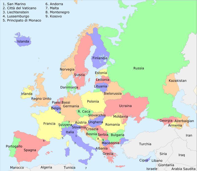 Cartina Politica Dell Asia Con Stati E Capitali.Risultati Immagini Per Carta Geografica D Europa Europa Geografia Mondo Geografia