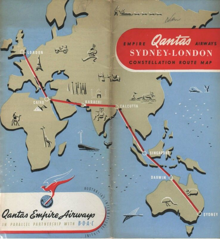 Route map - 1948 Pan American World Airways - Timetables - new air france world map flight routes c.1948