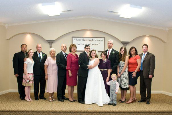 Rachel's wedding to Nathan Brimmer and their families.