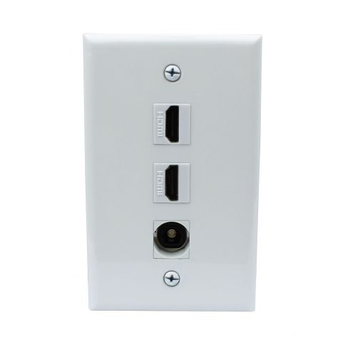 Recommend Mount 2 Port Hdmi And 1 Port Toslink Wall Plate Plates On Wall Plates Wall