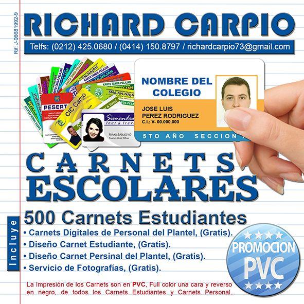 Promoción de Carnets en PVC