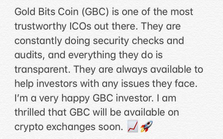 GoldBitsCoin GBC crypto cryptocurrency
