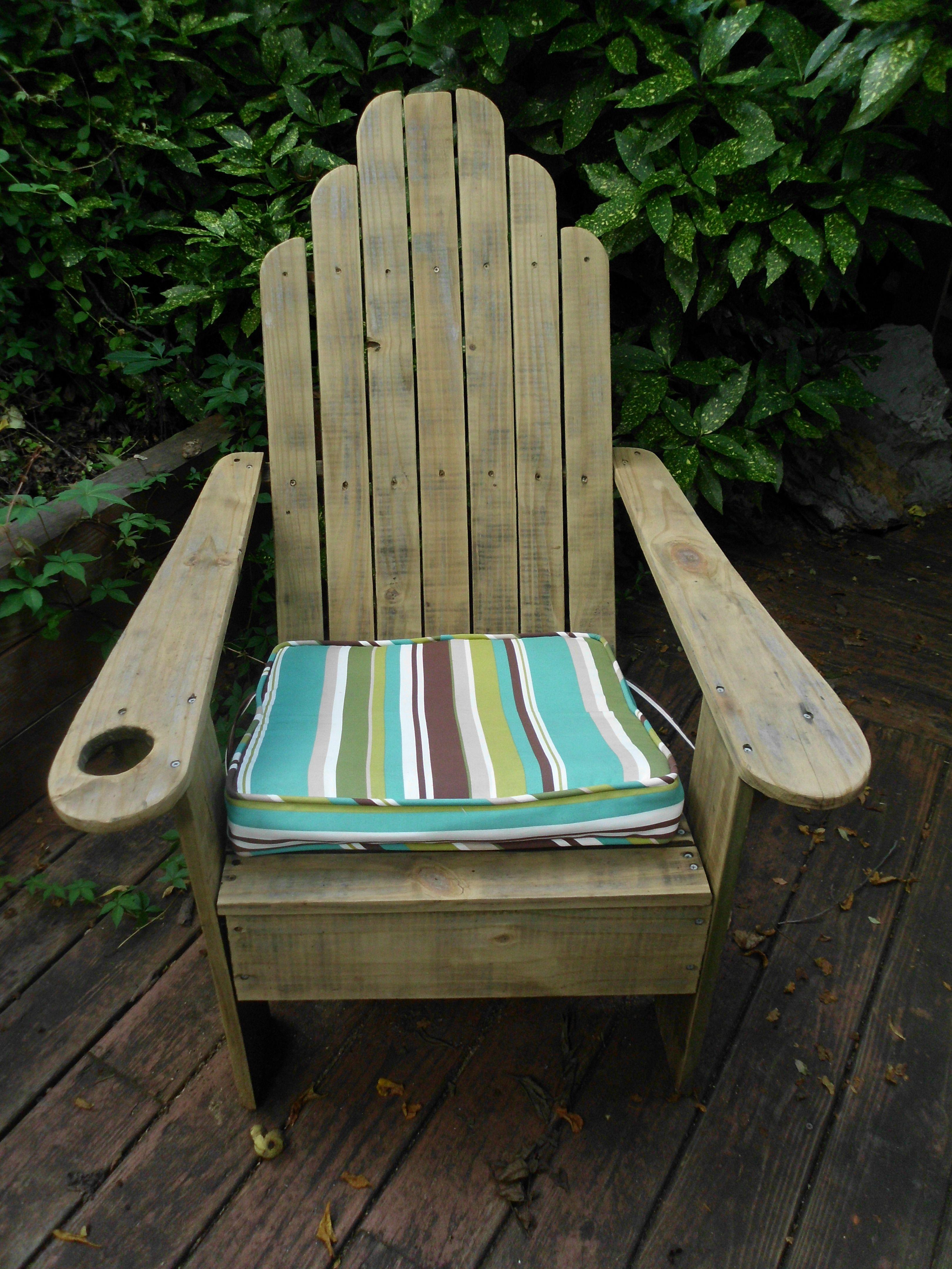 Classic Adirondack Chair. Of Wood