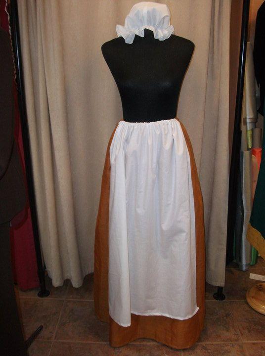 Falda y cofia estilo medieval para una boda | Mis creaciones 2 ...