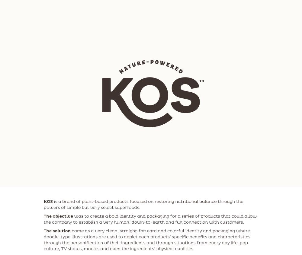 KOS on Behance Typography logo inspiration, Logo design