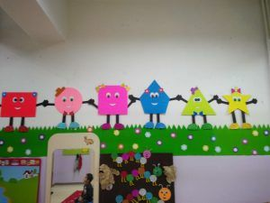 Preschool Shapes Bulletin Board Ideas For Kids 3