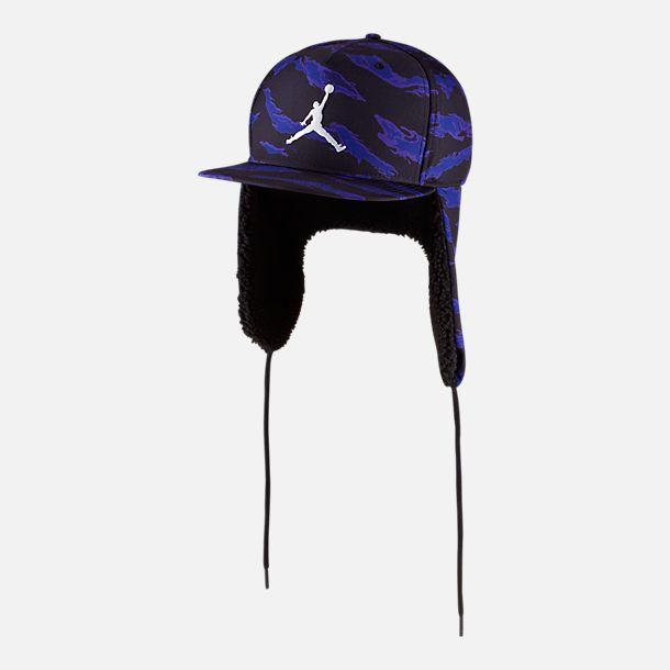 Front view of Unisex Jordan Pro Shield Ear Flap Hat in Concord Black 9fe0ea7f3dae