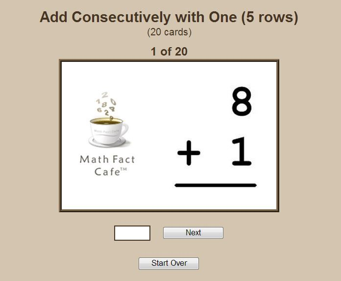 Math Worksheets Free Printable And Customizable Math Flash Cards Math Math Cafe
