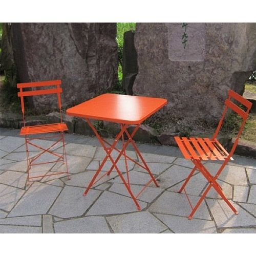 St. Louis 3 Piece Outdoor Bistro Set, Seats 2: Patio Furniture :