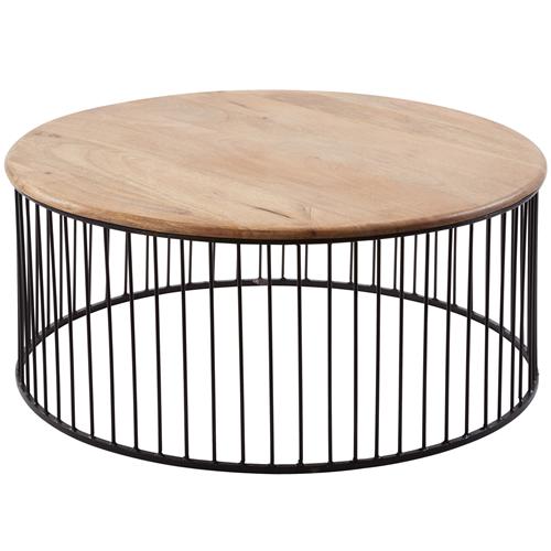 Teak And Metal Carousel Short Side Table Iron Coffee Table Outdoor Coffee Tables Round Coffee Table