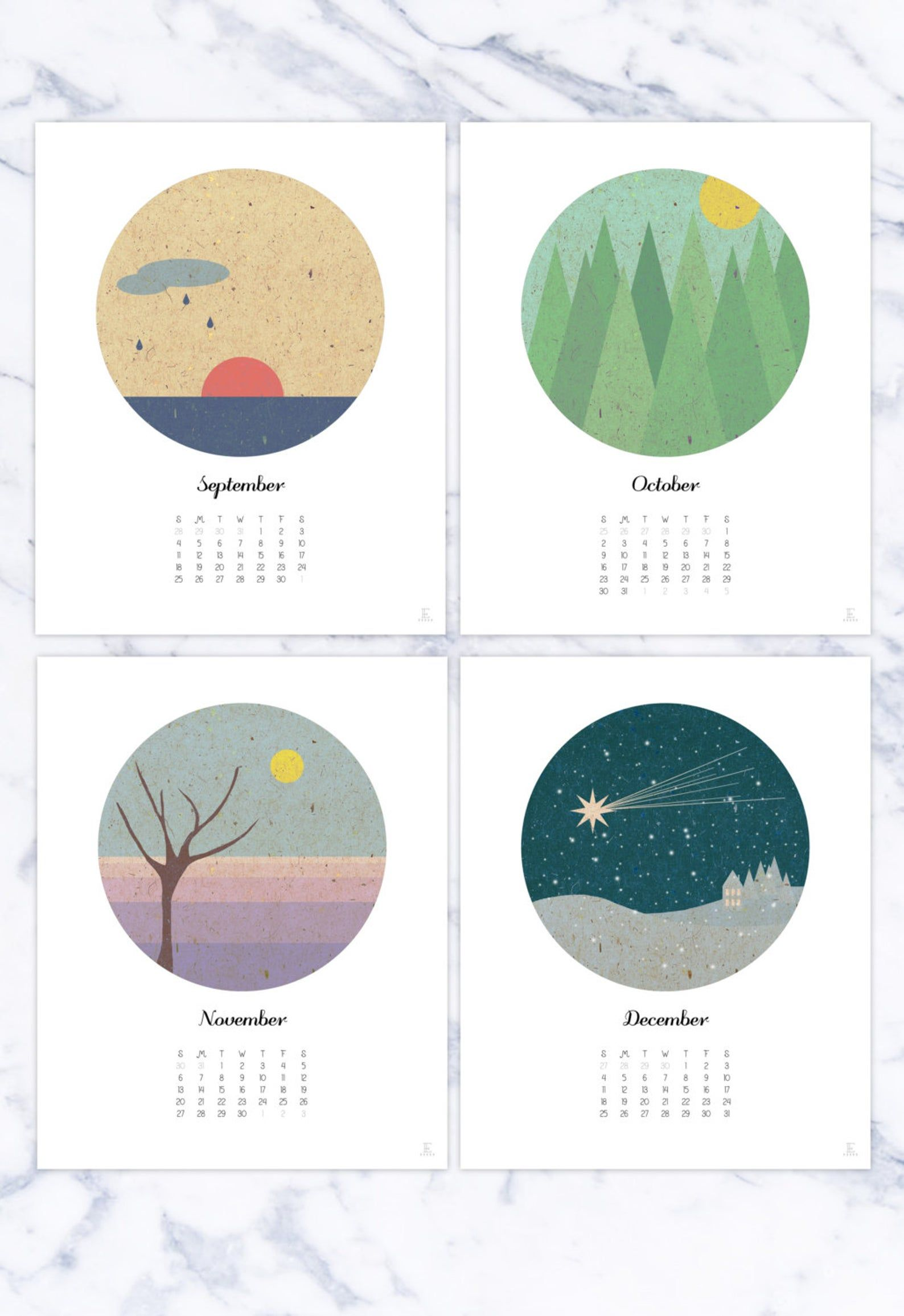 Wall calendar 2021 12 months plus inspirational cover page ...